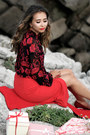 Red-eva-mendes-skirt-red-eva-mendes-blouse-ruby-red-shoescom-heels