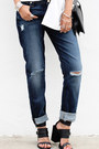 Navy-7-for-all-mankind-jeans-white-hervia-shirt-black-bnkr-sandals