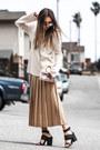 Neutral-neiman-markus-sweater-bronze-valentino-skirt-black-bnkr-sandals
