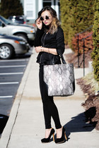 silver Yoins bag - black Yoins blazer - gold Tobi accessories