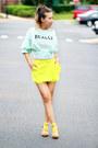 Aquamarine-printed-blackfive-shirt-yellow-chiffon-blackfive-shorts