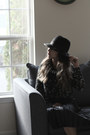 Black-forever-21-hat-black-style-moi-shirt-black-kristin-perry-necklace