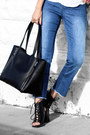 Blue-sanctury-clothes-jeans-black-ny-company-bag-white-band-of-gypsies-top
