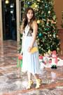 Sky-blue-chicwish-dress-yellow-aldo-bag-yellow-zappos-heels