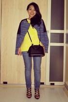 leather  tweed Zara jacket - alma bb Louis Vuitton bag - Zara top