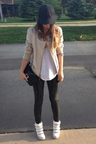black Urban Outfitters jeans - black Detroit hat
