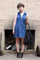 blue Goodwill dress - black Prune bag - black Mia sandals