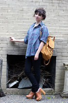 black Goodwill jeans - light purple Goodwill shirt - tawny baggu bag - tawny Jef