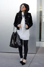 Black-coated-citizens-of-humanity-jeans-black-fur-sleeved-juicy-couture-jacket