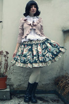 black Handmade by Reiko skirt - white Anna House blouse