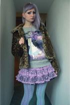 light purple Bodyline skirt - light brown New Yorker shoes