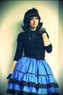 Blue-lolita-made-by-me-skirt-black-jennyfer-cardigan
