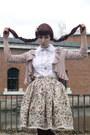Eggshell-lolita-handmade-skirt-maroon-c-a-tights