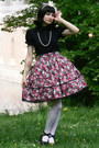 Ruby-red-lolita-handmade-rabbit-heart-shop-skirt-black-anna-house-blouse