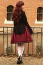 Maroon-handmade-skirt