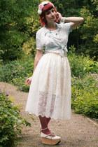 bubble gum ombre RABBIT HEART shop tights - off white Bodyline shoes