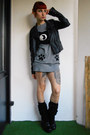 Black-vagabond-shoes-heather-gray-new-yorker-sweater