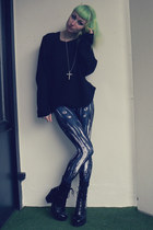 black vagabond heels - gray Black Milk Clothing leggings