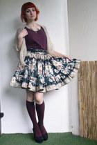 black handmade Amber skirt - beige crochet DIY scarf