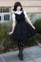 black lolita BTSSB dress - black wig lockshop hair accessory