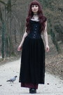 Black-goth-long-handmade-skirt-black-corset-draculaclothing-top