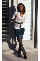 Forever 21 skirt - DSW boots