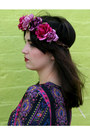 Magenta-rose-crown-roses-and-clementines-hair-accessory
