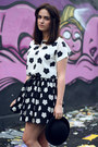 Black-bowler-hat-topshop-hat-white-daisy-print-persunmall-top