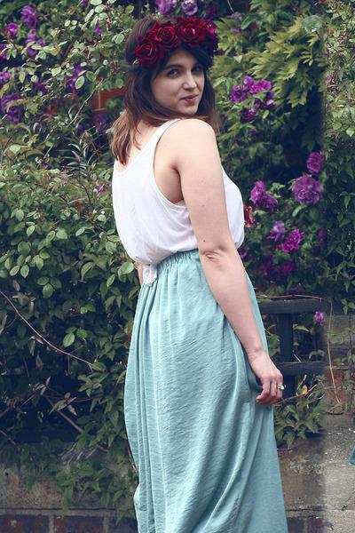 turquoise blue Primark skirt