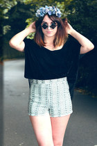 black giant vintage sunglasses - black Urban Outfitters top