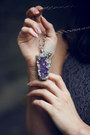 Amethyst-crystal-aurorealis-designs-necklace-heather-gray-lace-neon-rose-dress