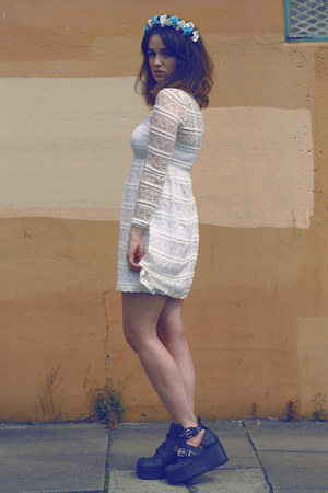 white lace Never Fully Dressed dress
