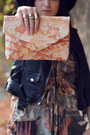 Light-orange-hand-painted-my-a-la-mode-bag-black-fedora-oasap-hat