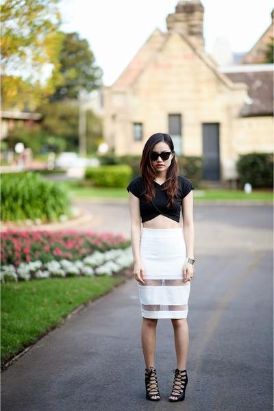 Nasty Gal top - mesh skirt Style Societe skirt