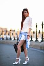 Zara blouse - Topshop blouse - emile tote Alexander Wang bag