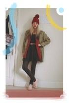 Topshop dress - thrifted coat - H&M pants