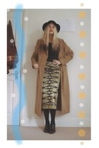 thrifted coat - thrifted vintage skirt