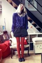 vintage blouse - Vans shoes - DIY shorts - vintage necklace