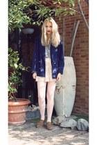 vintage blazer - shoes - vintage blouse - skirt