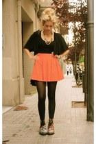 Zara skirt - Dr Martens boots - Zara shirt - Zara cape
