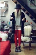 Dr Martens boots - hat - vintage jacket - H&M shirt - Zara shorts