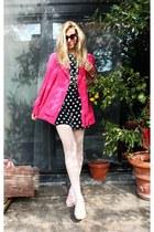 vintage dress - Primark tights - vintage blouse - Ebay sneakers