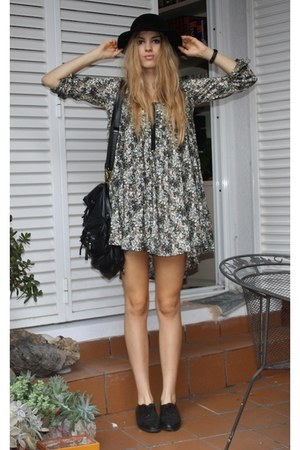 H&M dress - black Secondhand shoes - black christian dior hat