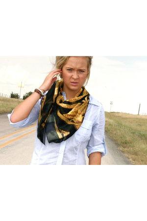 Zara dress - vintage scarf