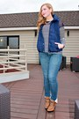 Blue-front-row-shop-shirt-brown-justfab-heels-blue-old-navy-vest