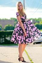 black vintage dress - black DSW heels