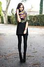 Black-platform-oasap-boots-black-american-apparel-leggings