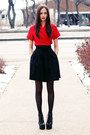 Red-wrap-club-couture-dress-black-jeffrey-campbell-boots