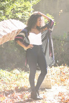 black Isabel Marant scarf - navy easy jean American Apparel jeans