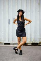 black Jeffrey Campbell boots - black MinkPink dress
